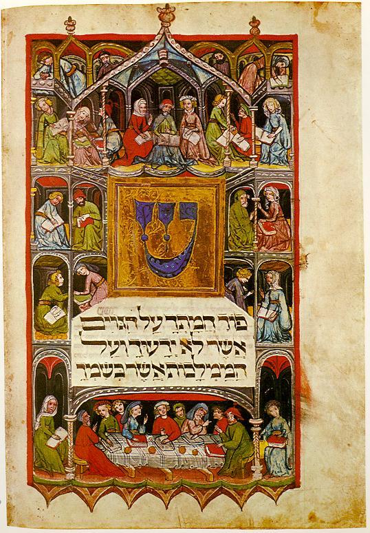recreación de otras culturas de la españa medieval Haggadah_14th_cent